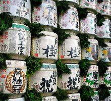 Festive Sake Barrels by skellyfish