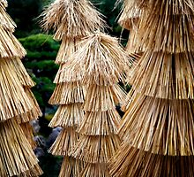 Straw Towers in the Castle Garden by skellyfish