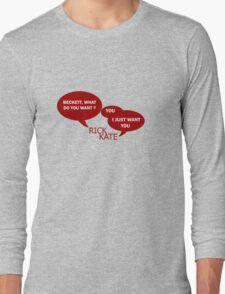 Beckett what do you want ?  Long Sleeve T-Shirt