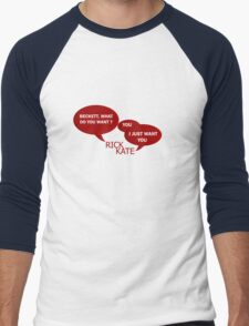 Beckett what do you want ?  Men's Baseball ¾ T-Shirt