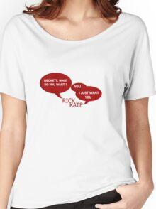 Beckett what do you want ?  Women's Relaxed Fit T-Shirt
