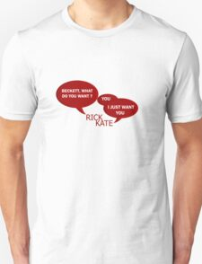 Beckett what do you want ?  Unisex T-Shirt