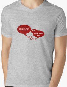 Beckett what do you want ?  Mens V-Neck T-Shirt