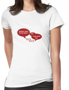Beckett what do you want ?  Womens Fitted T-Shirt