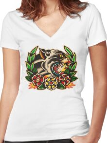 Spitshading 021 Women's Fitted V-Neck T-Shirt