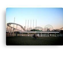Deserted Amusement Park Canvas Print