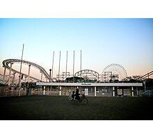 Deserted Amusement Park Photographic Print