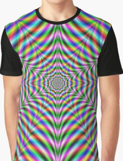 Twelve Pointed Psychedelic Web Graphic T-Shirt
