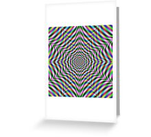 Twelve Pointed Psychedelic Web Greeting Card