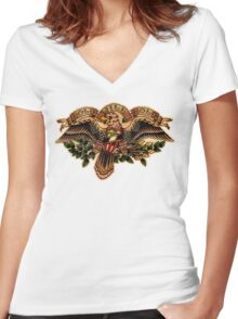 Spitshading 024 Women's Fitted V-Neck T-Shirt