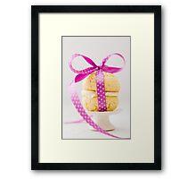 Whoopie Pie In Pink Bow Framed Print