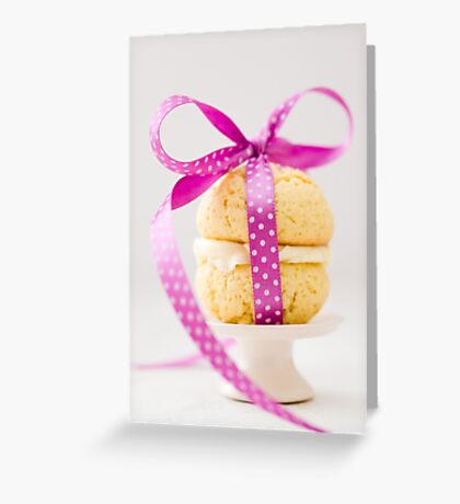 Whoopie Pie In Pink Bow Greeting Card