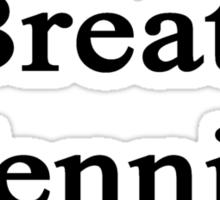 I Breathe Tennis Sticker