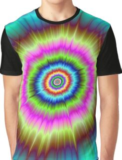 Tie Dye Explosion Graphic T-Shirt