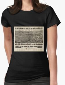 Panoramic Maps Bird's-eye view of Patchogue Long Island NY T-Shirt