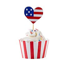 Independence day cupcakes Photographic Print