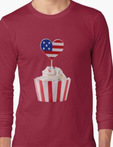 Independence day cupcakes Long Sleeve T-Shirt