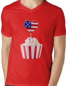 Independence day cupcakes Mens V-Neck T-Shirt