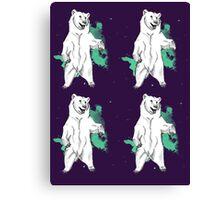 Mint Bear Canvas Print