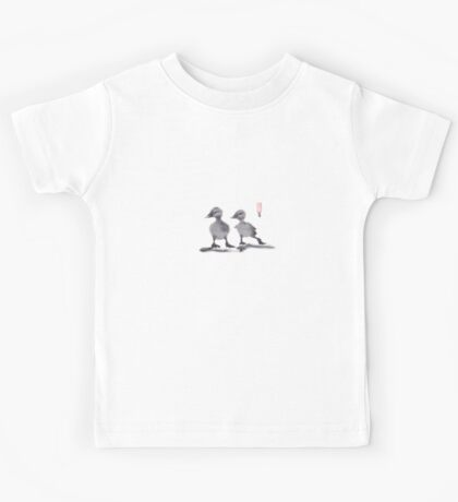 """print of original painting Japanese sumi-e """"Two duckling friends"""" Kids Tee"""
