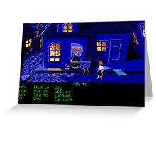 Circus Poster (Monkey Island 1) Greeting Card
