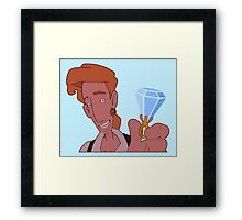 Elaine, wanna marry me?? (Monkey Island 3) Framed Print