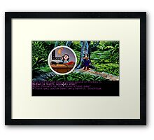 Lucas Arts call center (Monkey Island 2) Framed Print