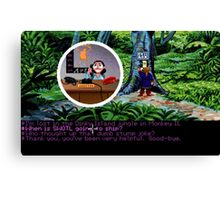 Lucas Arts call center (Monkey Island 2) Canvas Print