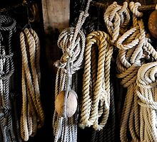 Ropes and other stuff on the Batavia, Lelystad The Netherlands by VanOostrum