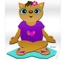 Peaceful Cat in Meditation Poster