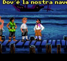 Dov'è la nostra nave? (Monkey Island 1) Sticker