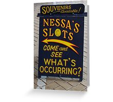 Fun at the Fair with Nessa's Slots Greeting Card