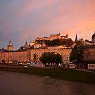 Sunset in Salzburg by Béla Török