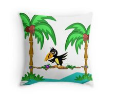 Toucan in Balance with Nature Throw Pillow