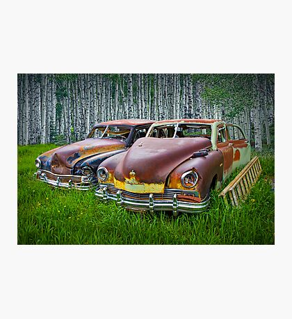 Vintage Frazer Auto Wrecks Photographic Print