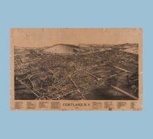 Panoramic Maps Cortland NY Baby Tee