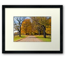 Rural country gravel road No 92 Framed Print