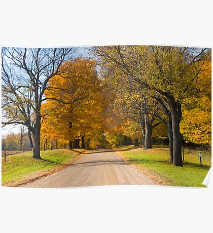 Rural country gravel road No 92 Poster