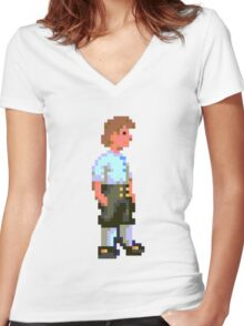 Guybrush (Monkey Island 1) Women's Fitted V-Neck T-Shirt
