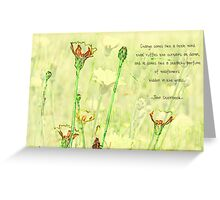 Wildflower Sketch greeting card Greeting Card