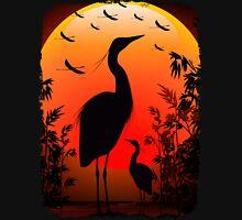 Heron Shape on Stunning Sunset T-Shirt
