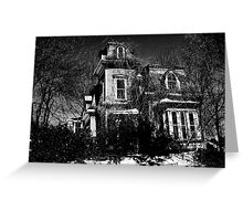 Your local creepy house Greeting Card