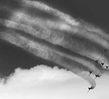 Red Arrows Black & White by Paul Knowles