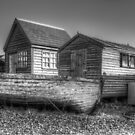 Southwold harbour sheds by Stacey  Purkiss