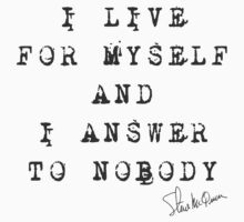 """Steve McQueen: """"I live for myself and I answer to nobody"""" Baby Tee"""
