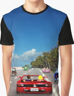 Outrun retro pixel art Graphic T-Shirt