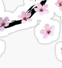 Triangulated Cherry Blossoms Sticker