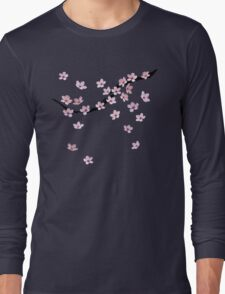 Triangulated Cherry Blossoms Long Sleeve T-Shirt
