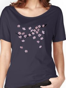 Triangulated Cherry Blossoms Women's Relaxed Fit T-Shirt