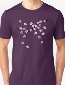 Triangulated Cherry Blossoms Unisex T-Shirt